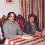 De izda. a dcha: Carlos Barros y Carmen Almodóvar.