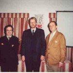 De izda. a dcha: Carlos Barros, Ferdinand Opll y Eduardo Pardo