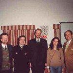 De izda. a dcha: Karl Rudolf, Carlos Barros, Ferdinand Opll, Xiana Barros y Eduardo Pardo