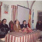 De izda. a dcha: Carlos Barros, Eduardo Pardo Karl Rudolf y Ferdinand Opll