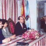 De izda. a dcha: Carlos Barros, Eduardo Pardo y Adeline Rucquoi.